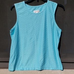 Christopher and banks teal top sz S